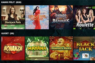 Yli 800 eri peliä valikoimissa