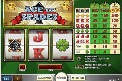 Suosittu Ace of Spades videopokeri