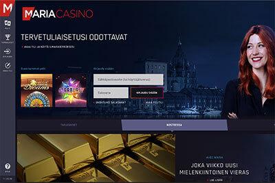 Maria Casino kotisivut
