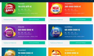 6 Lottopeliä