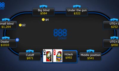 Pokeripöytä 888Poker pelisivulla