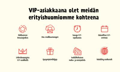 VIP ohjelman etuja